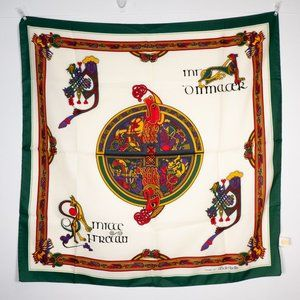 "Book of Kells Irish Gaelic Celtic Scarf 27"" square"